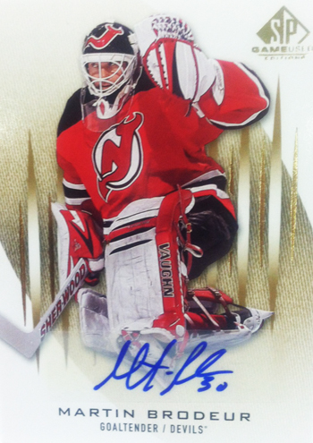 2013-14-NHL-SP-Game-Used-Gold-Autograph-Martin-Brodeur