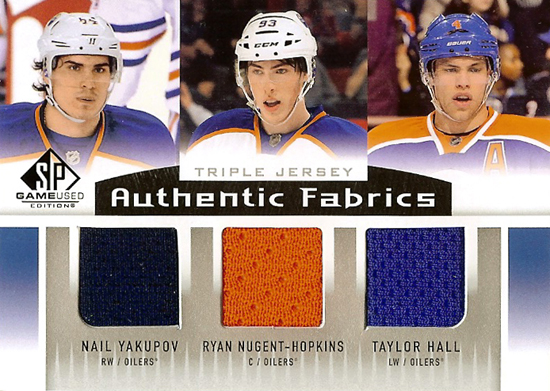 2014-SP-Game-Used-NHL-Triple-Jersey-Oilers-No-1-Picks