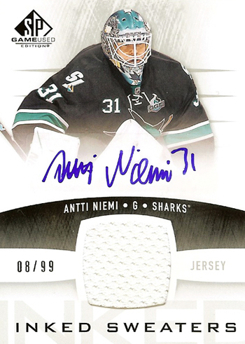 2014-SP-Game-Used-NHL-Upper-Deck-Inked-Sweaters-Antti-Niemi