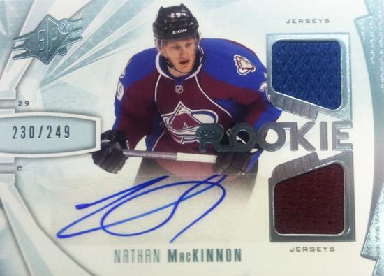 2013-14-NHL-SPx-Upper-Deck-Autograph-Rookie-Jersey-Nathan-MacKinnon