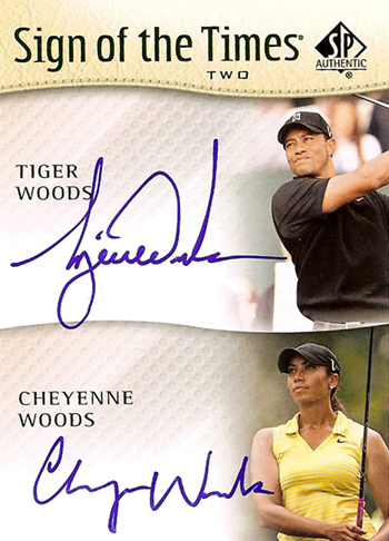2014-SP-Authentic-Golf-Tiger-Cheyenne-Woods-Dual-Sign-of-the-Times