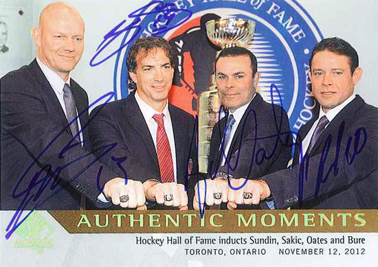 2013-14-NHL-SP-Authentic-Moments-Hall-of-Fame-Autograph-Sundin-Sakic-Oates-Bure