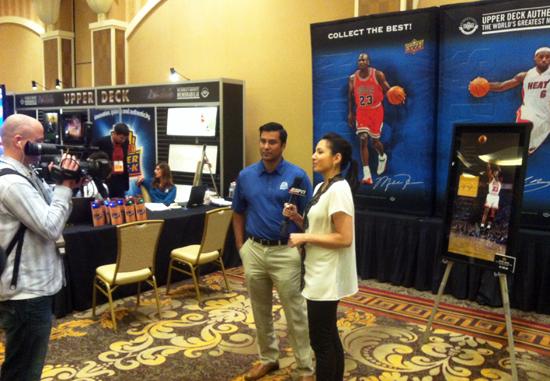 2014-Las-Vegas-Industry-Summit-Upper-Deck-Interview-ESPN-Mint-Condition-Michelle-Steele-2