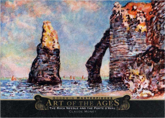 2014-Upper-Deck-Goodwin-Champions-Art-of-the-Ages-Claude-Monet-The-Rock-Needle-and-the-Porte-Daval