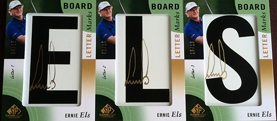 2014-SP-Game-Used-Golf-Leaderboard-Letter-Marks-Ernie-Els-Full-Set-Nameplate