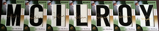 2014-SP-Game-Used-Golf-Leaderboard-Letter-Marks-Rory-McIlroy-Full-Set-Nameplate