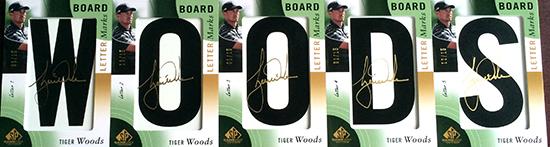 2014-SP-Game-Used-Golf-Leaderboard-Letter-Marks-Tiger-Woodsr-Full-Set-Nameplate