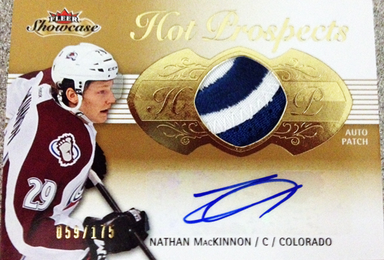 Upper-Deck-2013-14-NHL-Fleer-Showcase-Autograph-Rookie-Patch-Card-Nathan-MacKinnon-059