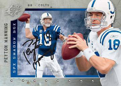 2009-SPx-Shadow-Box-Autograph-Peyton-Manning-Card