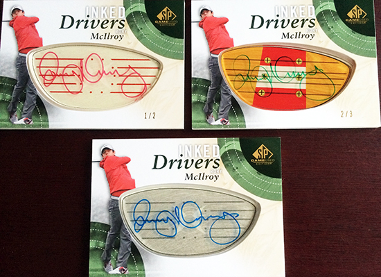 2014-SP-Game-Used-Golf-Inked-Drivers-Rory-McIlroy-Three-Levels-Rarity
