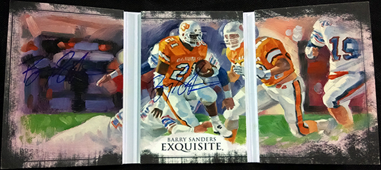 2013-Upper-Deck-Exquisite-Football-Autograph-Triptych-Signatures-Barry-Sanders-Inside