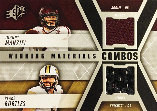 2014-SPx-Football-Winning-Materials-Dual-Manziel-Bortles