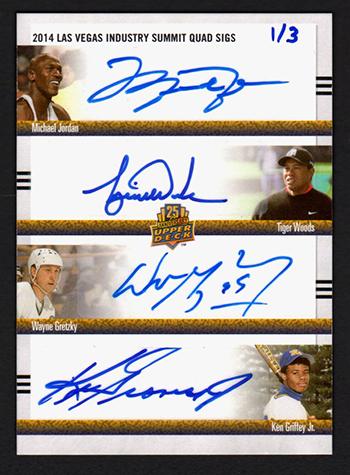 Beckett-Auctions-2014-UD-Las-Vegas-Summit-Quad-Autograph-Jordan-Woods-Gretzky-Griffey