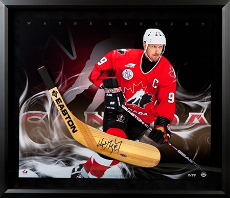 Group-Gift-Idea-Dad-Father-Upper-Deck-Authenticated-Autographed-Easton-Stick-Blade-Ice-Colde-Framed