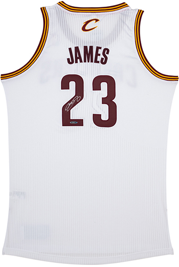 Upper-Deck-Authenticated-UDA-Gift-LeBron-James-Cleveland-Cavaliers-Home-White-Jersey-Signed