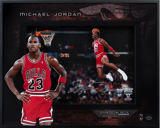 Upper-Deck-Authenticated-UDA-Present-Michael-Jordan-Shadowbox-Autograph-Bulls