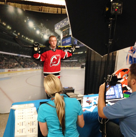 2014-NHL-Draft-Upper-Deck-Booth-Busy-Personalized-Trading-Card-Devils-Fan