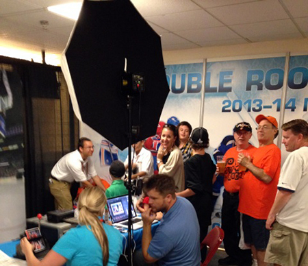 2014-NHL-Draft-Upper-Deck-Booth-Busy-Personalized-Trading-Card-Line
