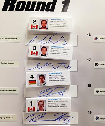 2014-NHL-Draft-Upper-Deck-Gauntlet-Board-1st-Look-Top-Four-Picks-Autographs