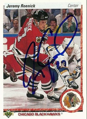 Not-Authentic-90-91-Upper-Deck-Jeremy-Roenick-Autograph-Card