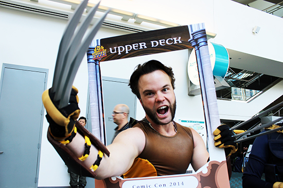 Wolverine wanted his own Upper Deck trading card!