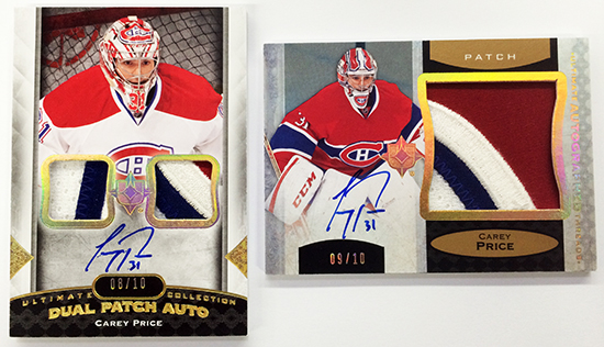 2013-14-NHL-Upper-Deck-Ultimate-Collection-Autograph-Patch-Carey-Price