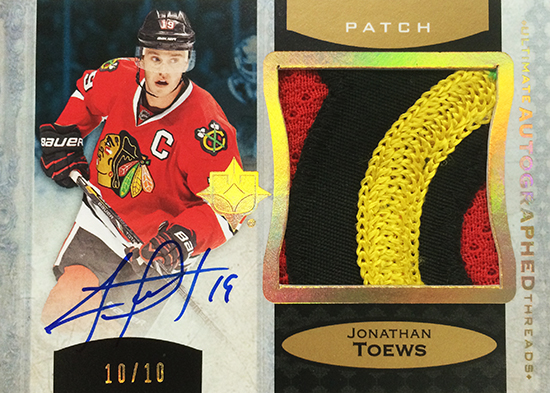 2013-14-NHL-Upper-Deck-Ultimate-Collection-Autograph-Patch-Jonathan-Toews