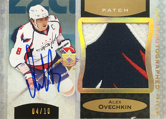 2013-14-NHL-Upper-Deck-Ultimate-Collection-Autograph-Patch-Threads-Alex-Ovechkin