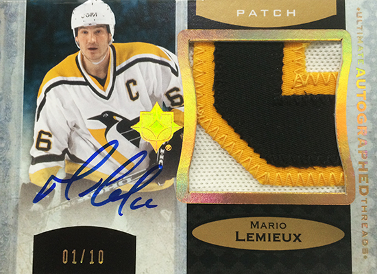 2013-14-NHL-Upper-Deck-Ultimate-Collection-Autograph-Patch-Threads-Mario-Lemieux