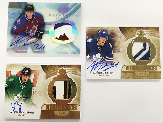2013-14-NHL-Upper-Deck-Ultimate-Collection-Autograph-Rookie-Patch-Group-Shot-2