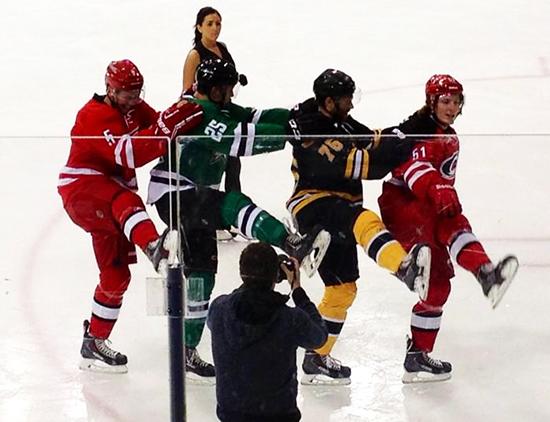 2014-NHLPA-Rookie-Showcase-Game-Figure-Skating-Line-Dancing
