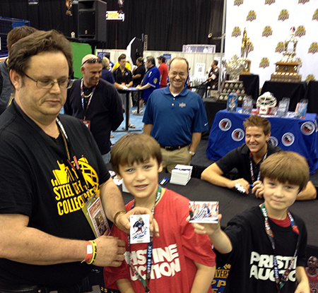 2014-National-Sports-Collectors-Convention-Upper-Deck-Autographs-First-Steve-Mason-Father-Son-Kids-Memories