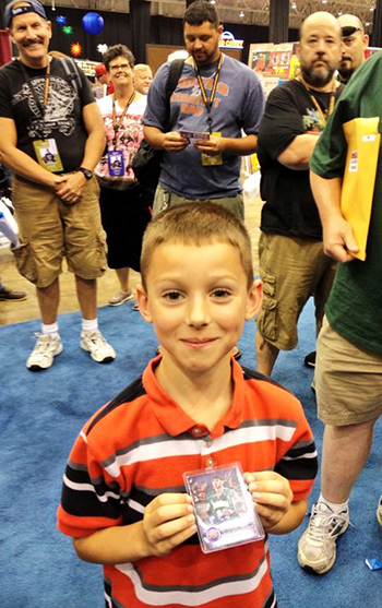 2014-National-Sports-Collectors-Convention-Upper-Deck-Autographs-LeBron-James-Kids-Exciting-Moment-First