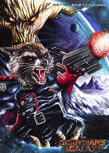 Guardians of the Galaxy's Rocket Raccoon Artist Sketch
