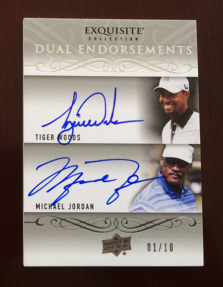 2014-Exquisite-Collection-Golf-Dual-Autograph-Endoresements-Tiger-Woods-Michael-Jordan
