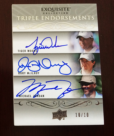 2014-Exquisite-Collection-Golf-Triple-Autograph-Endoresements-Tiger-Woods-Rory-McIlroy-Michael-Jordan