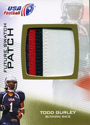 Brag-Photo-Todd-Gurley-Upper-Deck-USA-Football-Georgia-Bulldogs-Running-Back-Patch