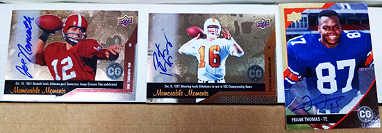 2014-Upper-Deck-Conference-Greats-SEC-Autographed-Amazing-Cards-Manning-Thomas-Namath