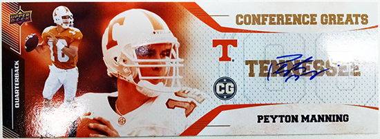 2014-Upper-Deck-Conference-Greats-SEC-Autographed-Peyton-Manning-Blow-Up-Box-Topper-