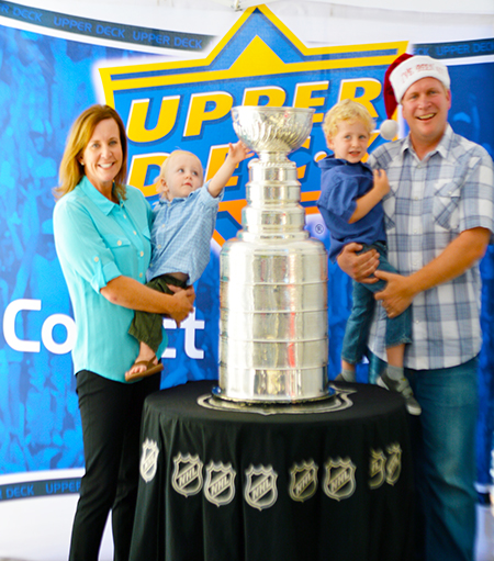 2014-Upper-Deck-Stanley-Cup-San-Diego-Visit-Keeper-Phil-Pritchard-Employee-Benefits-Perk-Holiday-Card
