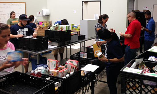 Upper-Deck-Volunteer-Charity-Feeding-America-Sorting-Food-2