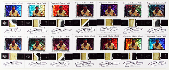 2013-14-Exquisite-Collection-Basketball-LeBron-James-Game-Used-Jersey-Rookie-Patch-Cards-1