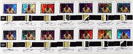 2013-14-Exquisite-Collection-Basketball-LeBron-James-Game-Used-Jersey-Rookie-Patch-Cards-2