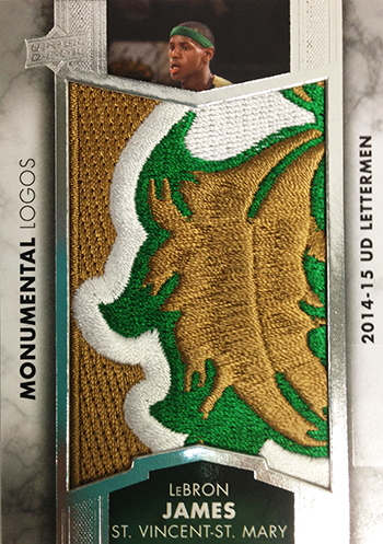 2014-15-Upper-Deck-Letterman-Basketball-Monumental-Logo-Patch-LeBron-James