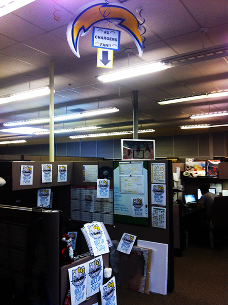 Bre-Priest-Brittany-Crawford-Upper-Deck-Chargers-Patriots-Prank-Office-Cube