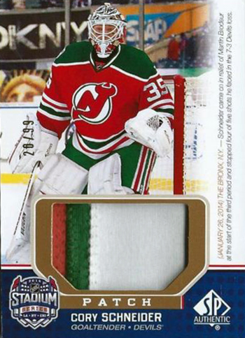 2014-NHL-Stadium-Series-Rangers-Devils-Cory-Schneider-Patch-SP-Game-Used