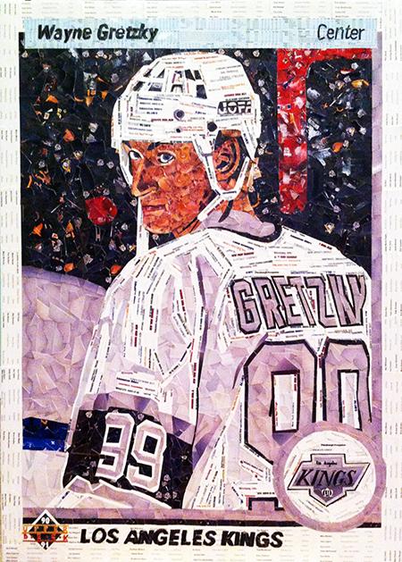 2014-Upper-Deck-Tim-Carroll-90-91-Wayne-Gretzky-Art-Piece-25th-Anniversary