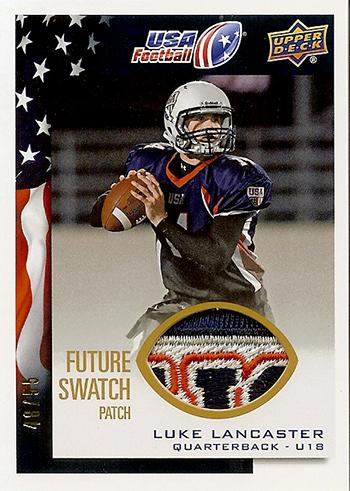 2014-Upper-Deck-USA-Football-Future-Swatch-Patch-Luke-Lancaster