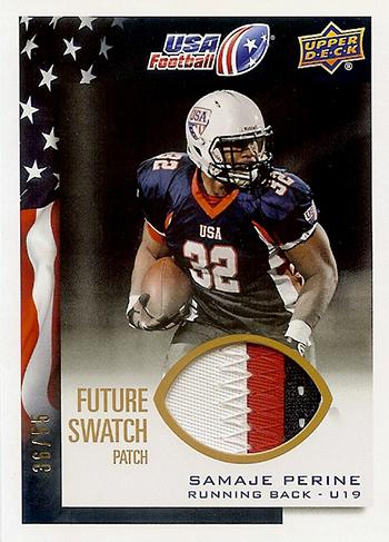 2014-Upper-Deck-USA-Football-Future-Swatch-Patch-Samaje-Perine