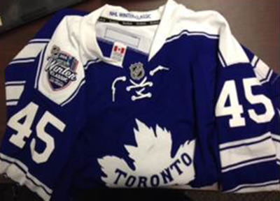 2014-Winter-Classic-Game-Used-Toronto-Maple-Leafs-Jonathan-Bernier-Jersey